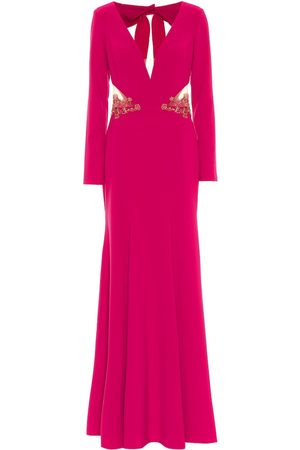 Marchesa Notte Dames Midi jurken - Embellished stretch-crêpe gown