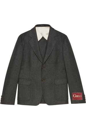 Gucci Pin dot flannel jacket with label