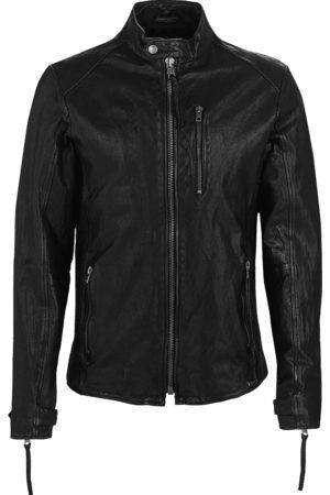 Tigha Heren Leren jassen - Heren Leren jas Hutch zwart (black)