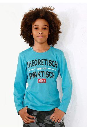 Kidsworld Jongens Lange mouw - Shirt met lange mouwen Theoretisch kann ich praktisch alles