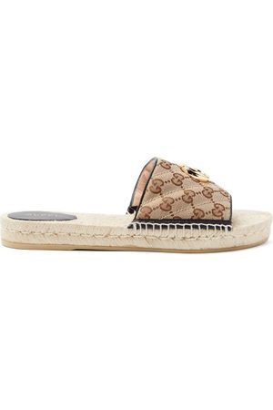 Gucci GG Supreme Canvas Espadrille Slides - Womens - Multi