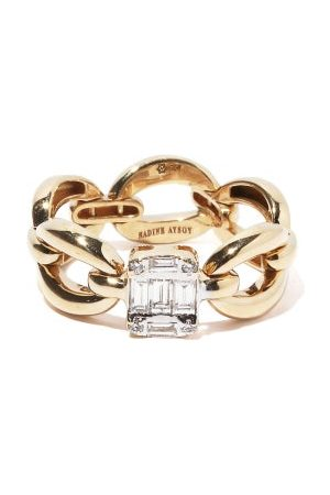Nadine Aysoy Dames Ringen - Catena Illusion Diamond & 18kt Gold Ring - Womens - Yellow Gold