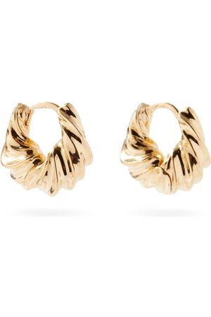 Otiumberg Twisted Mini 14kt Gold-vermeil Hoop Earrings - Womens - Yellow Gold