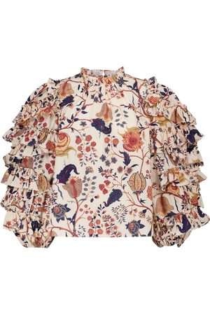 ULLA JOHNSON Pippa floral cotton blouse