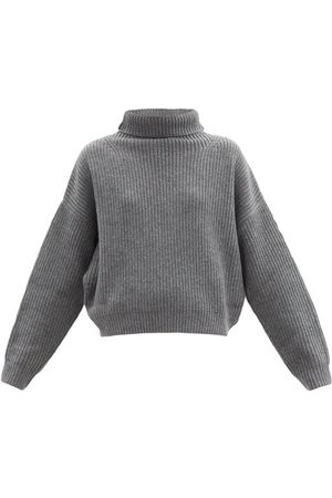 Isabel Marant Brooke Wool-blend Roll-neck Sweater - Womens - Grey