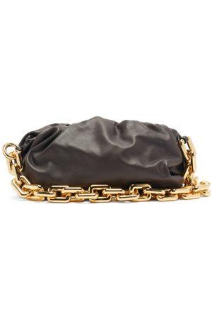 Bottega Veneta The Chain Pouch Leather Clutch Bag - Womens - Brown Gold
