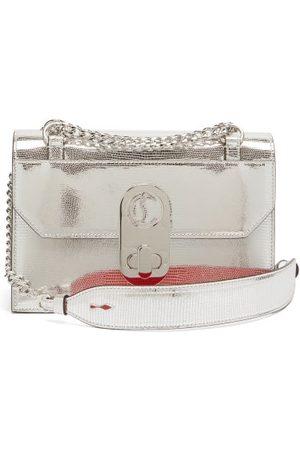Christian Louboutin Elisa Mini Leather Cross-body Bag - Womens - Silver