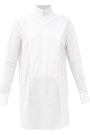 Bourrienne Paris X Vii Muse Cotton-poplin Longline Shirt - Womens - White