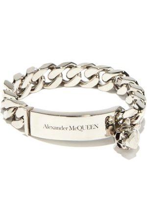 Alexander McQueen Skull-charm Curb-chain Bracelet - Mens - Silver