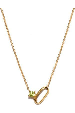 Lizzie Mandler August Birthstone Peridot & 18kt Gold Necklace - Womens - Green Gold
