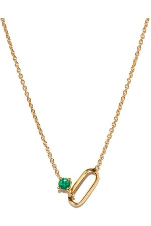 Lizzie Mandler May Birthstone Emerald & 18kt Gold Necklace - Womens - Green Gold
