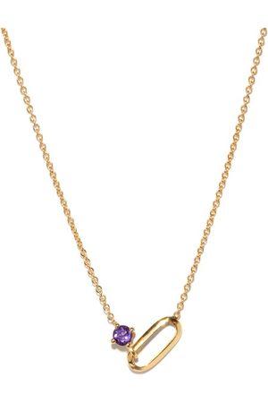 Lizzie Mandler February Birthstone Amethyst & 18kt Gold Necklace - Womens - Purple Gold