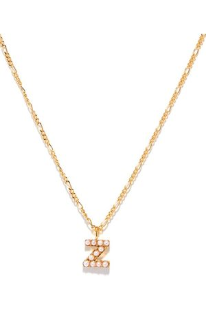 Otiumberg Dames Kettingen - Alphabet Pearl & 14kt Gold-vermeil N-z Necklace - Womens - Pearl