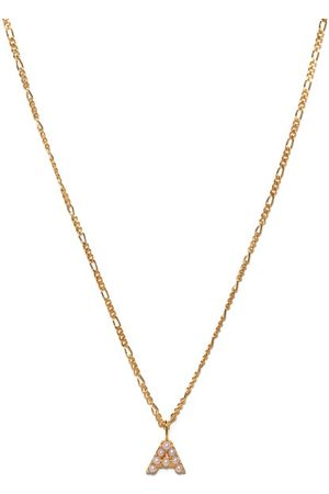 Otiumberg Dames Kettingen - Alphabet Pearl & 14kt Gold-vermeil A-m Necklace - Womens - Pearl