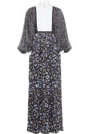 Tory Burch Floral stretch-silk maxi dress