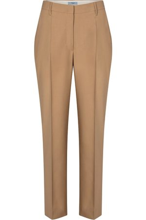 Prada High-rise virgin wool slim pants