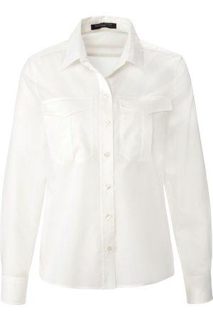 Fadenmeister Berlin Dames Blouses - Blouse in overhemdmodel van katoen en zijde Van