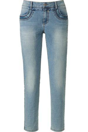 Glücksmoment Enkellange jeans model Grace met pailletten Van