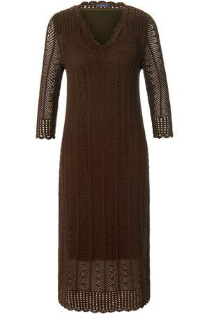 Mybc Gebreide jurk van 100% katoen met 3/4-mouwen Van