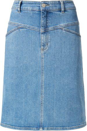 DAY.LIKE Dames Spijkerrokken - Jeansrok in licht A-lijnmodel met deelnaden Van