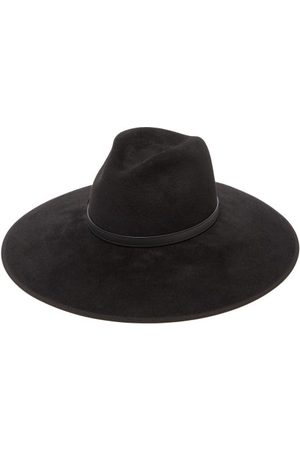 Gucci Dames Hoeden - Horsebit Felt Fedora Hat - Womens - Black