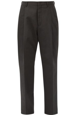 VALENTINO Cotton-blend Faille Straight-leg Trousers - Mens - Black