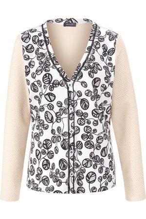 Basler Dames Lange jassen - Shirtjasje met lange mouwen en V-hals Van