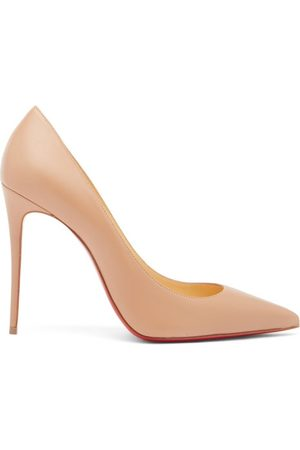 Christian Louboutin Kate 100 Leather Pumps - Womens - Nude