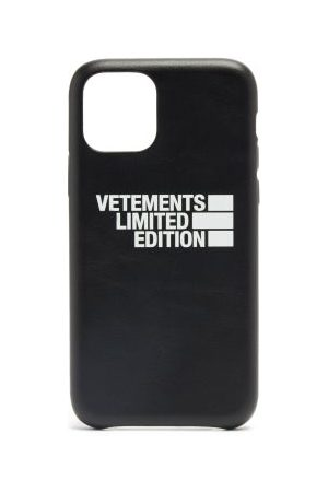 Vetements Haute Couture Leather Iphone® 11 Pro Case - Mens - Black