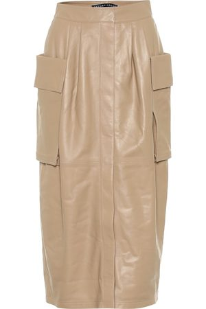 Zeynep Arcay Leather cargo midi skirt
