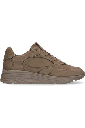 Manfield Bruine nubuck sneakers