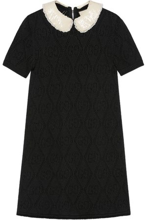 Gucci Wool dress with embroidered collar