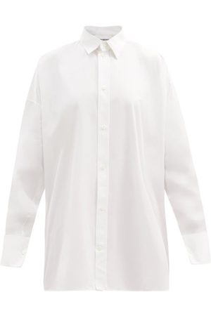 Balenciaga Dames Bodysuit - Oversized Cotton-poplin Shirt - Womens - White
