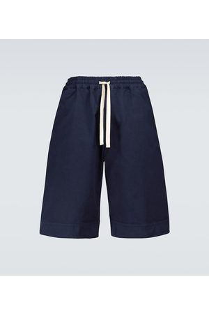 Jil Sander Cotton wide-leg bermuda shorts
