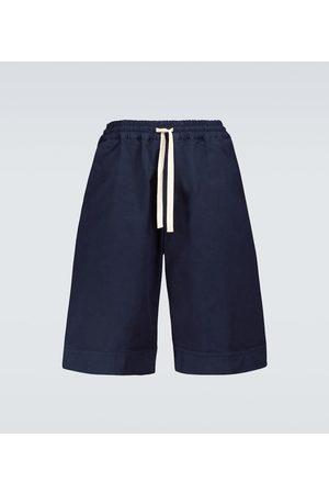 Jil Sander Cotton wide-leg bermuda shorts