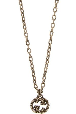 Gucci Heren Kettingen - GG Rope-engraved Sterling-silver Necklace - Mens - Silver