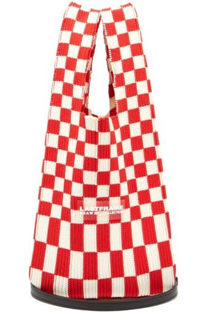 LASTFRAME Ichimatsu Check Knitted Tote Bag - Womens - Red Multi