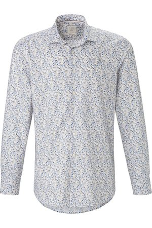 Olymp Overhemd van 100% katoen met print Van