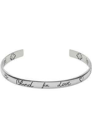 "Gucci ""Blind For Love"" bracelet in silver"