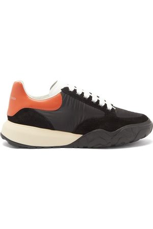 Alexander McQueen Court Raised-sole Panelled Trainers - Mens - Black Multi