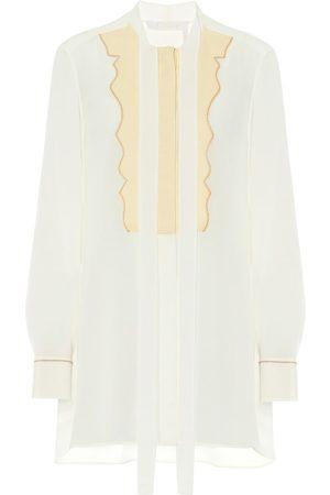 Chloé Tie-neck silk-crêpe blouse