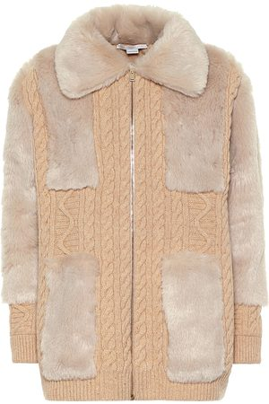 Stella McCartney Virgin wool and faux fur cardigan