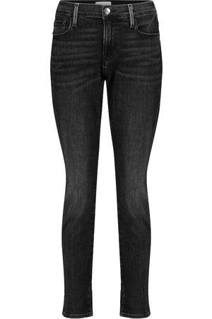 Frame Le Garçon cropped mid-rise skinny jeans