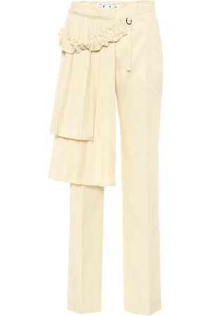OFF-WHITE Curtains high-rise wool pants