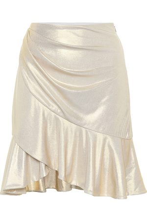 Balmain Exclusive to Mytheresa – Ruffle-trimmed lamé miniskirt