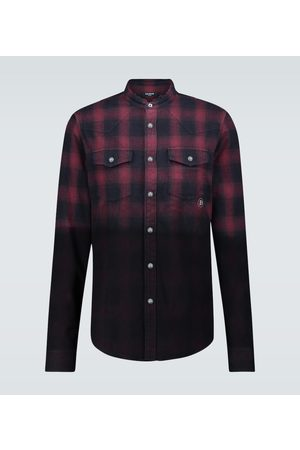 Balmain Cotton flannel checked shirt