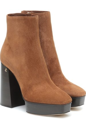 Jimmy Choo Bryn 125 suede platform ankle boots