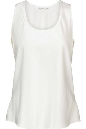 VERONICA BEARD Sabrina stretch-silk satin tank top