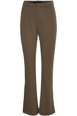Vero Moda Normal Waist Flared Broek Dames Green