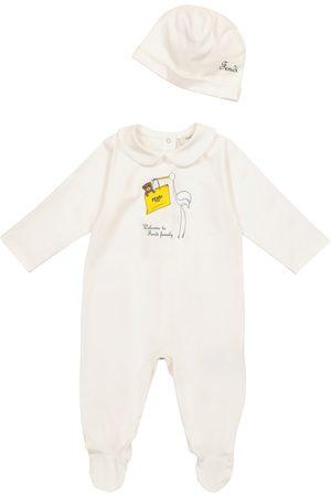 Fendi Baby stretch-cotton onesie and hat set